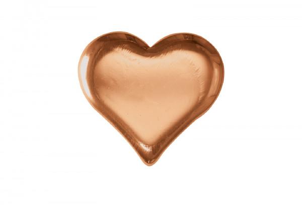 Kupferbarren 500 g Motiv Herz im Etui