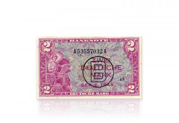 BRD 2 DM Banknote 1948 gebraucht Ro.234/235
