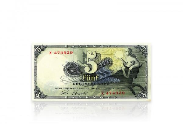 BRD 5 DM Banknote 1948 gebraucht Ro. 252e