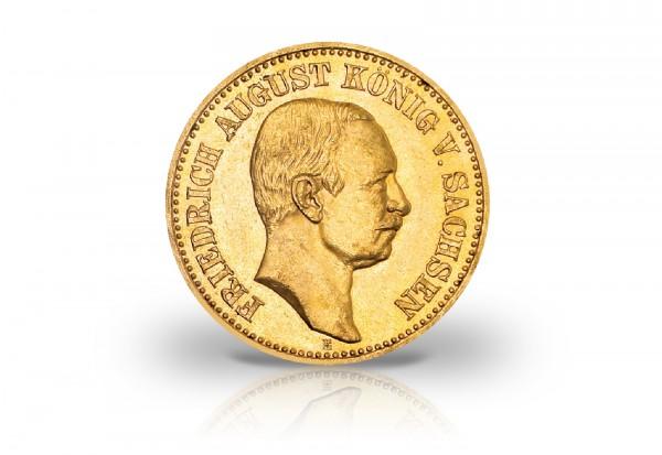 Kaiserreich 20 Goldmark 190519131914 Friedrich August Iii