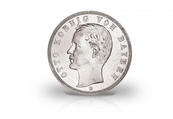 Kaiserreich 2 Mark Silbermünze König Otto Von Bayern 1891 1913