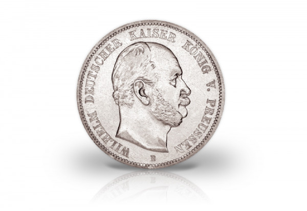 Preußen 2 Mark Silbermünze 1876 1884 Wilhelm I J 96 Ss