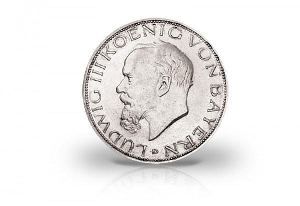 Bayern 5 Mark Silbermünze 1914 König Ludwig Iii Ss Königreich