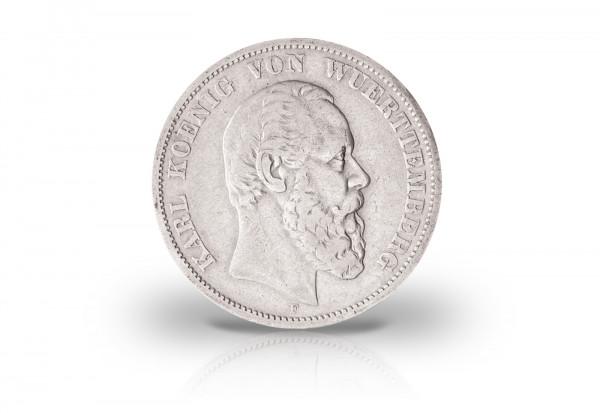 Württemberg 2 Mark 1876 1888 König Karl Jaeger Nr 172 Königreich