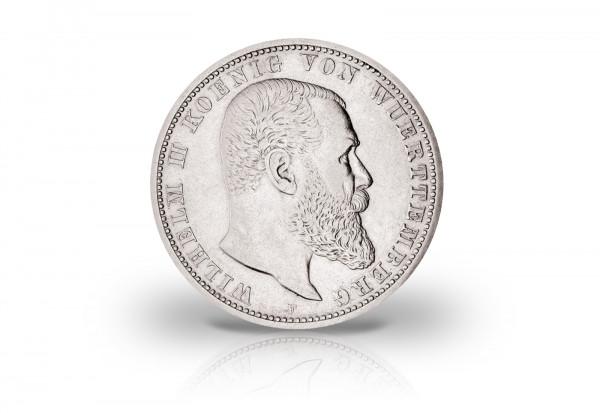 Württemberg 2 Mark Silber 1892 1914 Wilhelm Ii Von Württemberg