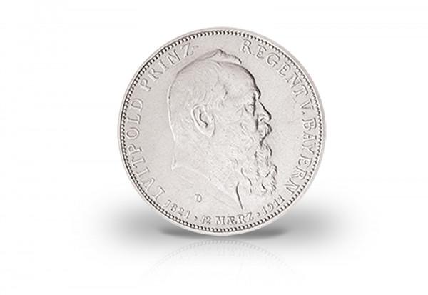 Bayern 5 Mark Silbermünze 1911 Prinzregent Luitpold Königreich