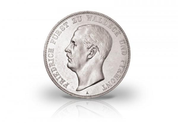 Kaiserreich 5 Mark Silbermünze 1903 Friedrich Waldeck Und Pyrmont