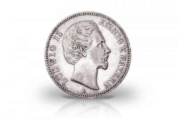 Kaiserreich 5 Mark 1875 Ss Vz König Von Bayern Ludwig Ii J 42