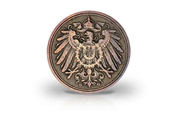 Deutsches Kaiserreich 1 Pfennig 1889-1916 Großer Adler