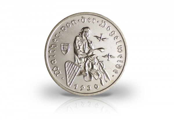 Weimarer Republik 3 Mark Silber 1930 Vogelweide Gedenkmünzen