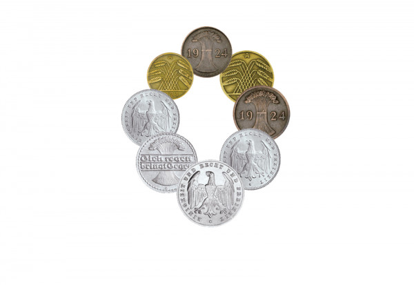 Weimarer Republik Münzen Lot I Umlaufmünzen Weimarer Republik
