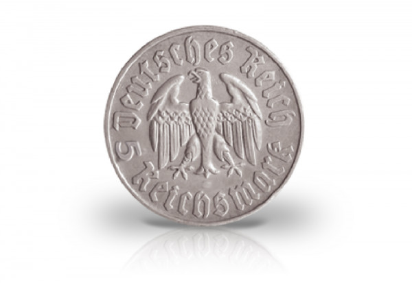 Drittes Reich 5 Reichsmark 1933 Martin Luther Jaeger Nr 353