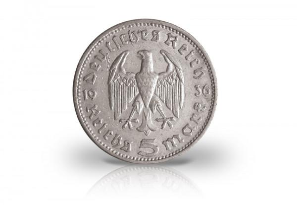 Drittes Reich 5 Reichsmark 1933 1936 Hindenburg Drittes Reich