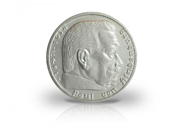 Drittes Reich 5 Reichsmark 1936 1939 Hindenburg Drittes Reich
