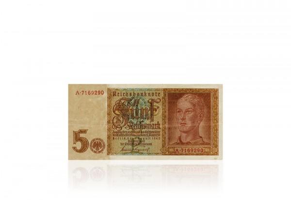 Drittes Reich 5 Reichsmark 1942 Hitlerjunge Ro 179 1 Banknote gebraucht