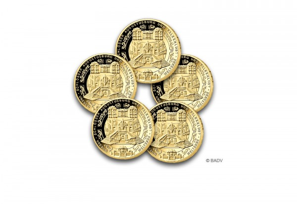 Brd 100 Euro Gold 2018 Schlösser Augustusburg Und Falkenlust In