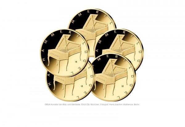 Brd 50 Euro Gold 2019 Hammerflügel Prägestätte A J Reservierung 50