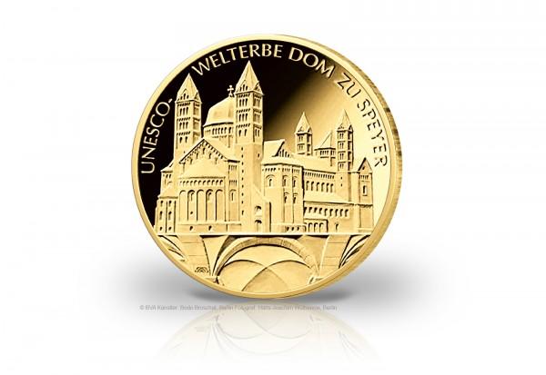 100 Euro Goldmünze 2019 Deutschland UNESCO Welterbe Dom zu Speyer Prägestätte u. Wahl Vorbestellung