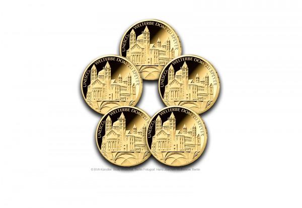 100 Euro Goldmünze 2019 Deutschland Unesco Welterbe Dom Zu Speyer