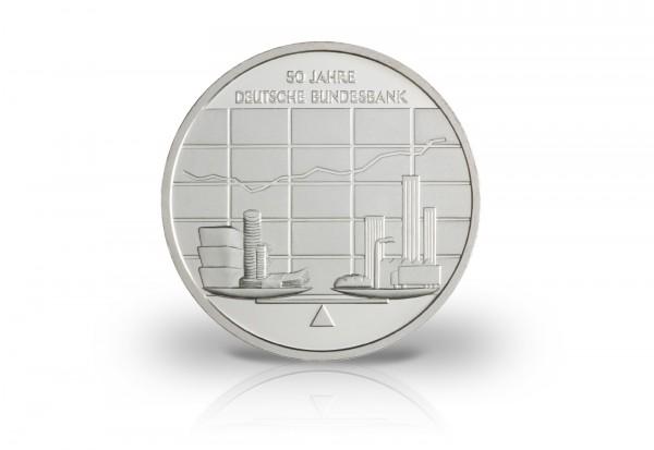 Brd 10 Euro 2007 50 Jahre Bundesbank St 10 Euro Silber
