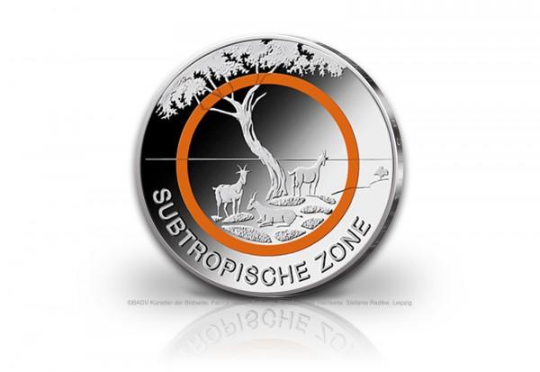Brd 2018 St Subtropische Zone 5 Euro Mit Polymer Deutschland