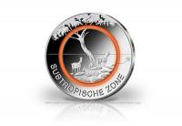 Zusatzbild zu 5 Euro 2018 Deutschland Subtropische Zone mit orangem Polymerring st  Prägestätte D