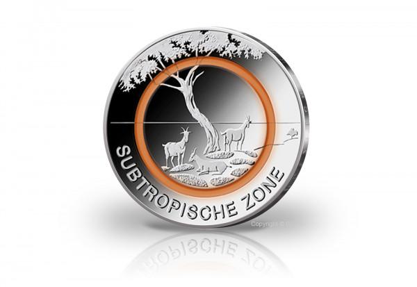 Brd 5 Euro St 2018 Subtropische Zone Mit Polymerring Orange