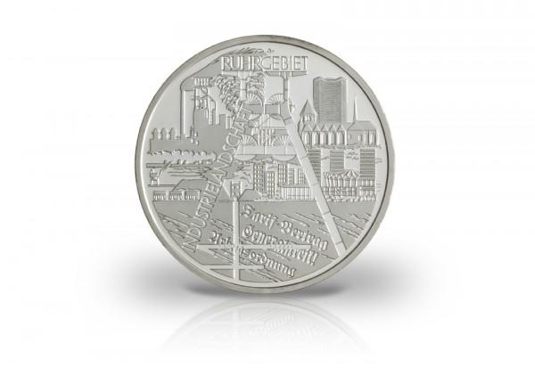 Brd 10 Euro Silbermünze 2003 Pp Ruhrgebiet 10 Euro Silber