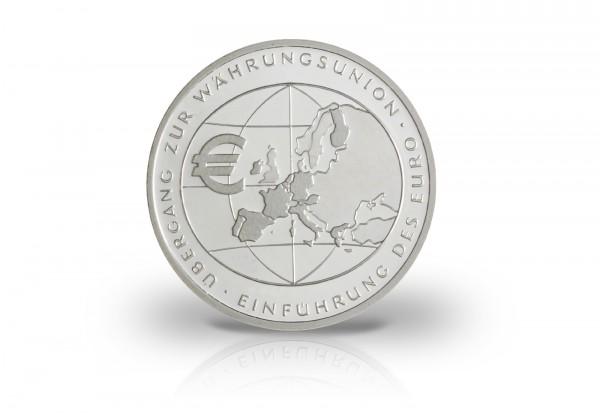 Brd 10 Euro 2002 Pp Einführung Des Euro 10 Euro Silber
