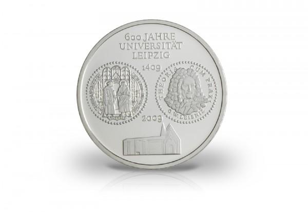 Brd 10 Euro 2009 Pp 600 Jahre Universität Leipzig 10 Euro Silber