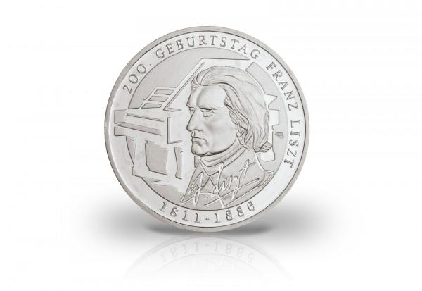 Brd 10 Euro Silbermünze Pp 2011 Franz Liszt 10 Euro Silber