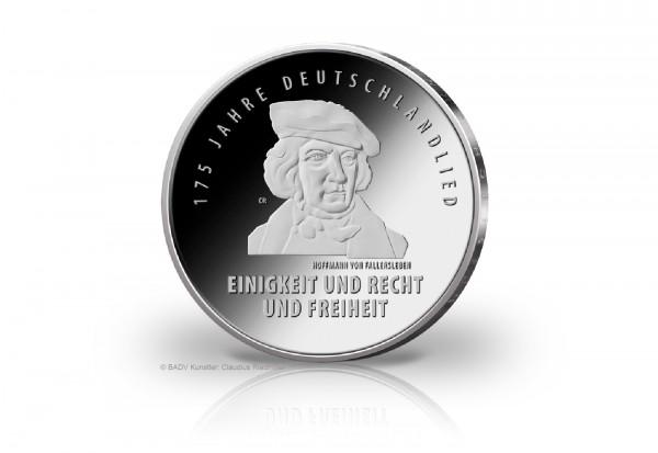 Brd 20 Euro Silbermünze 2016 175 Jahre Deutschlandlied Pp 20