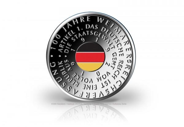 20 Euro Silbermünze 2019 Deutschland 100 Jahre Weimarer