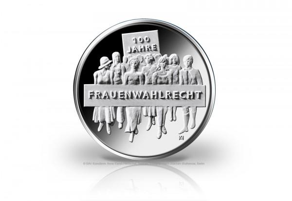 20 Euro Silbermünze 2019 Deutschland 100 Jahre Frauenwahlrecht St