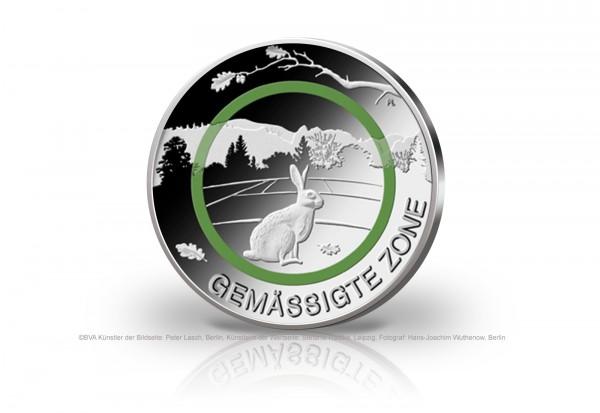 5 Euro 2019 Deutschland Gemässigte Zone Feldhase mit grünem Polymerring Prägestätte unserer Wahl PP