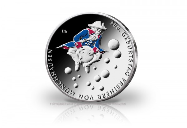 20 Euro Silbermünze 2020 Deutschland 300. Geburtstag Freiherr von Münchhausen st