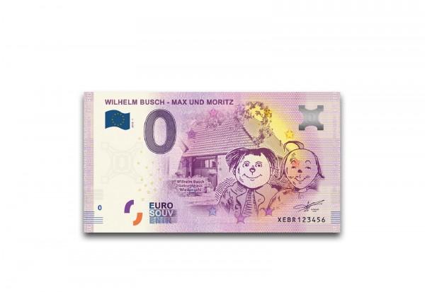 0 Euro Banknote Wilhelm Busch Max und Moritz