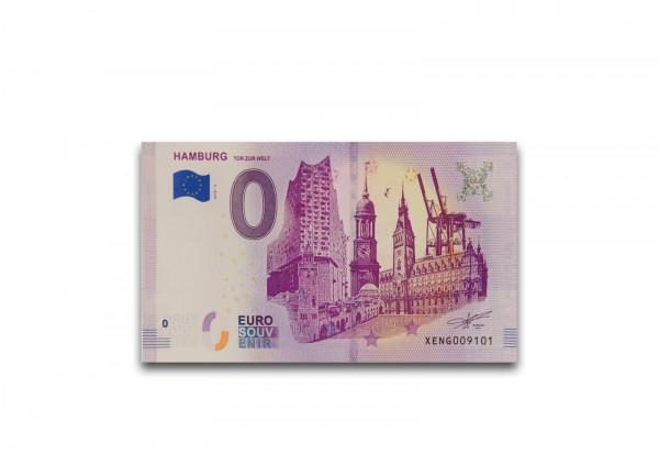 0 Euro Banknote Tor zur Welt Hamburg