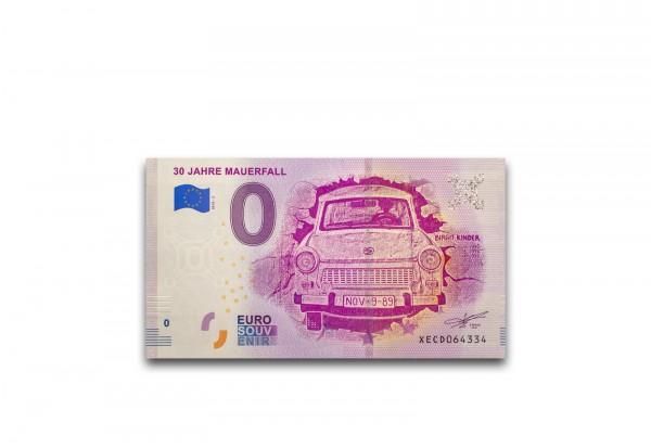 0 Euro Banknote 30 Jahre Mauerfall 2018