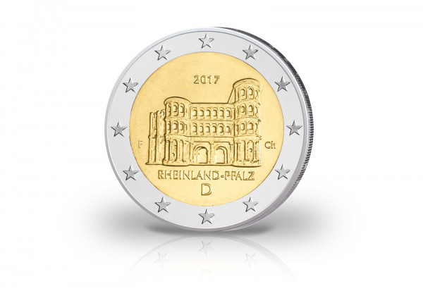 Brd 2 Euro 2017 Pp Porta Nigra Rheinland Pfalz Prägestätte F