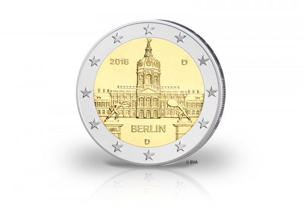 BRD 2 Euro Gedenkmünze Berlin Schloss Charlottenburg Prägestätte unserer Wahl 2018