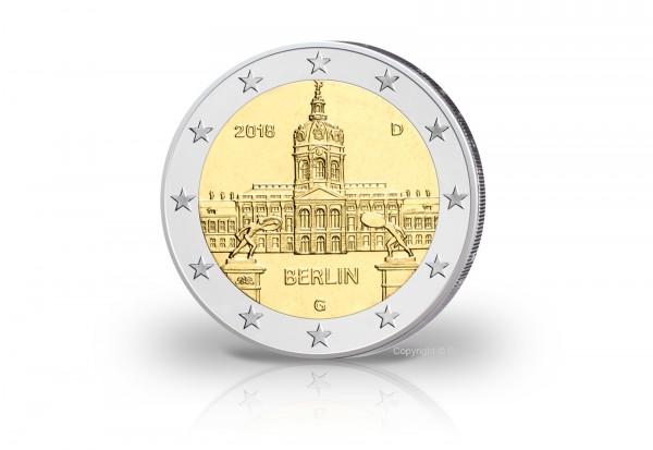 Brd 2 Euro Gedenkmünze Berlin Schloss Charlottenburg Prägestätte G
