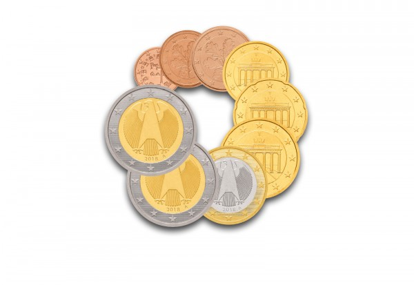 Brd Kursmünzensatz 2018 Polierte Platte Prägestätte Unserer Wahl