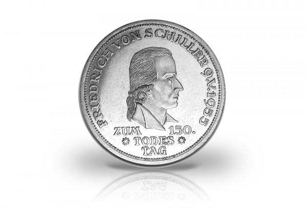 Brd 5 Dm Silbermünze 1955 Friedrich Von Schiller Pp 5 Mark Brd