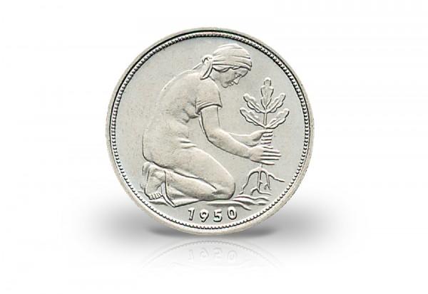 Brd 50 Pfennig 1950 G Bank Deutscher Länder J 379 Ssvz