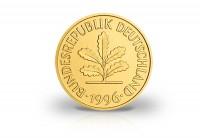 Zusatzbild zu 5 Pfennig Jahrgang unserer Wahl BRD mit 24 Karat Goldauflage