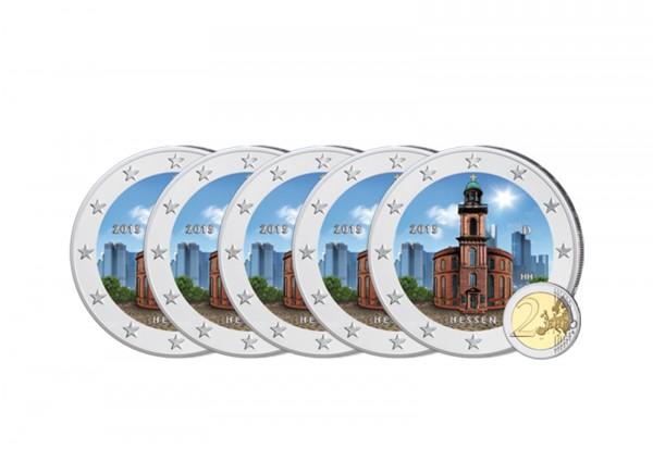 Brd 2 Euro Gedenkmünze 2015 Hessen Paulskirche Prägestätte A J Mit