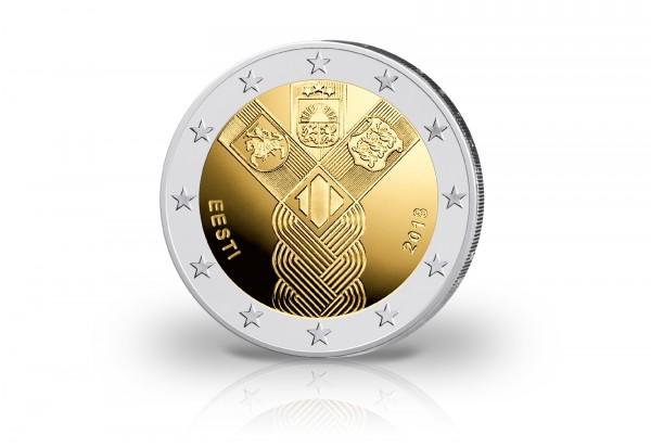 Estland 2 Euro 2018 100 Jahre Unabhängigkeit Baltische Gemeinschaftsausgabe