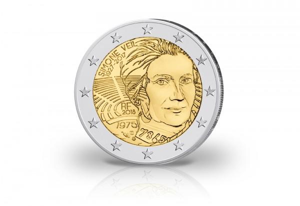 Frankreich 2 Euro 2018 Simone Veil Frankreich Euro Münzen