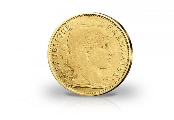Frankreich 10 Francs 1899 1914 Marianne Hahn Goldmünze Gold